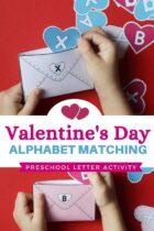Valentine's Day Alphabet Matching Preschool Letter Activity