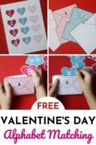 Free Valentine's Day Alphabet Matching