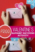 Free Valentine's Alphabet Matching Activity