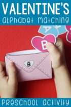 Valentine's Alphabet Matching Preschool Activity