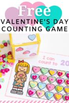 Free Valentine's Day Counting Game