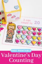Free Printable Valentine's Day Counting Grids