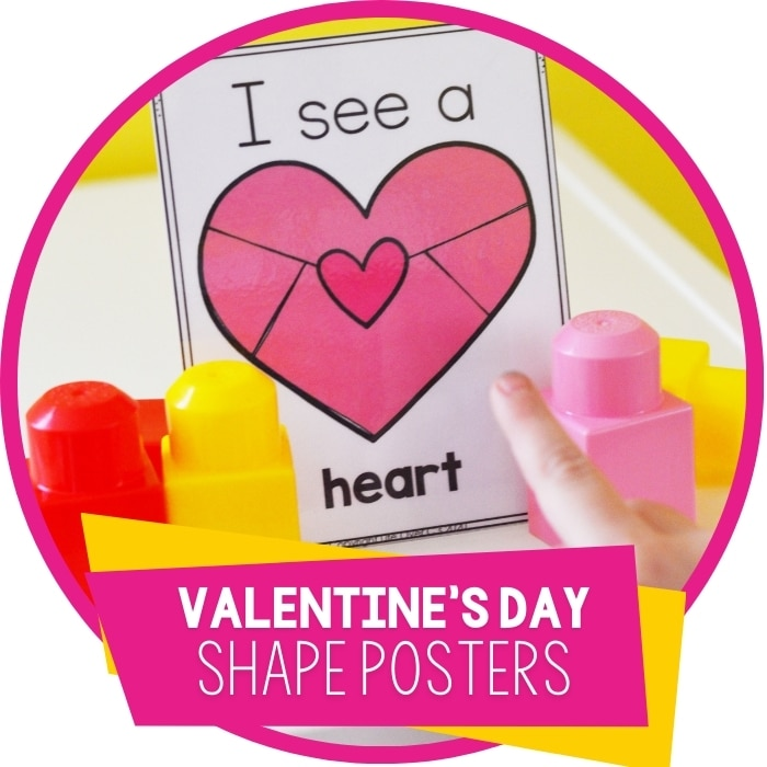 Free Valentine's Preschool 2D Shapes Poster for Classrooms