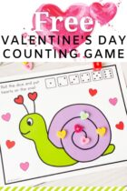 Free Valentine's Day Counting Game for Preschoolers