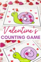 Free Printable Valentine's Counting Game