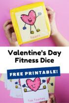 Valentine's Day Fitness Dice Free Printable