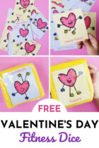 Free Valentine's Day Fitness Dice for Kids