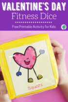 Free Printable Valentine's Day Fitness Dice Activity for Kids