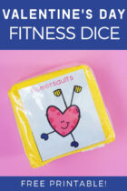Valentine's Day Fitness Dice for Preschoolers