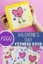Free Valentine's Day Fitness Dice