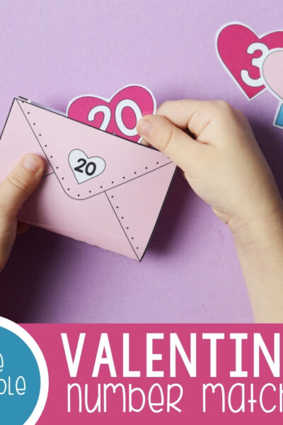 Valentines Number Matching Envelopes Featured Square Image