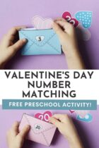 Free Valentine's Day Number Matching Preschool Activity