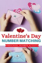Valentine's Day Number Matching Preschool Number Activity