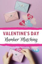 Valentine's Day Number Matching Activity for Preschoolers