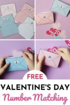 Free Valentine's Day Number Matching