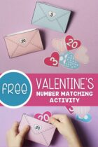 Free Valentine's Number Matching Activity