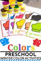 Colors Preschool Winter Activities