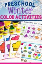 Preschool Winter Color Activities Pack