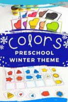 Winter Theme Preschool Colors Activities