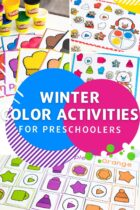 Winter Color Activities for Preschoolers
