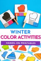 Winter Color Activities Hands-On Printables
