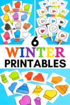 6 Winter Colors Printables