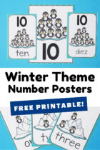 Free Printable Winter Theme Number Posters