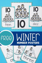 Free Winter Number Posters
