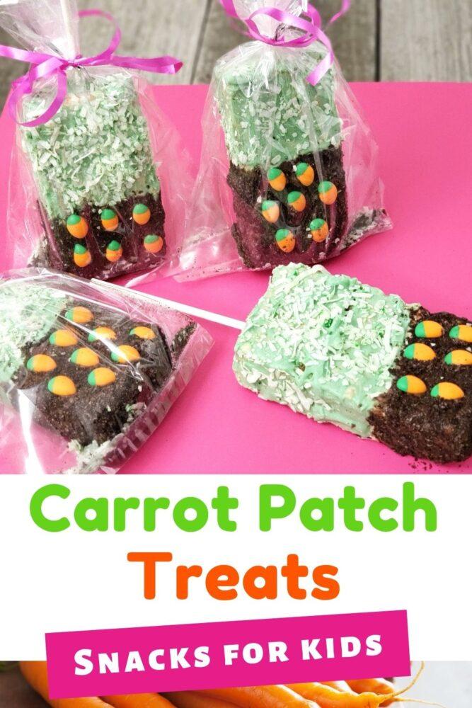 Carrot Patch Rice Krispy Treats