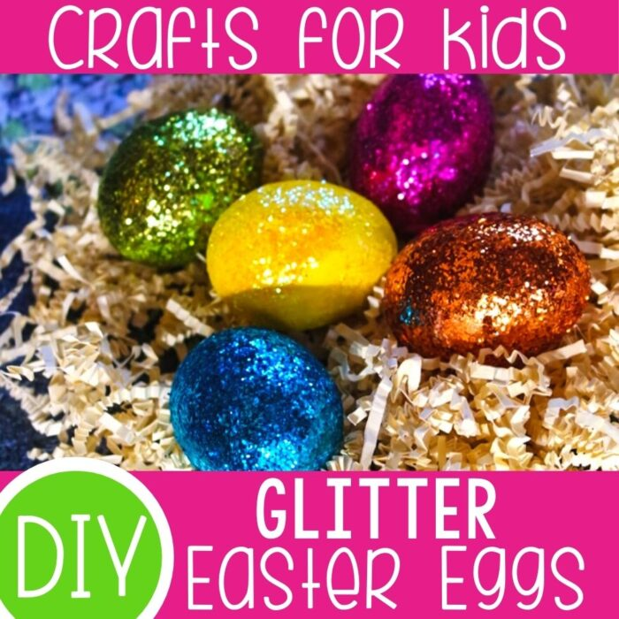 How to make Glitter Easter Eggs.