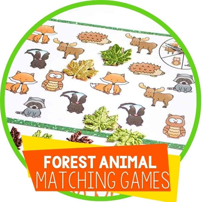 forest animal matching games Featured Image
