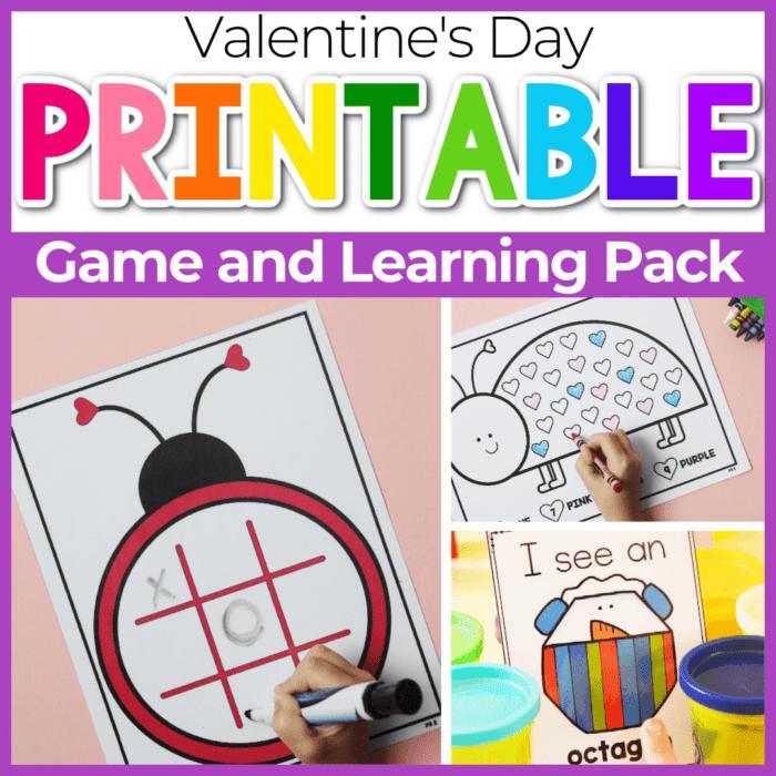 Lovebug Valentine Day Math Worksheets Featured Square Image