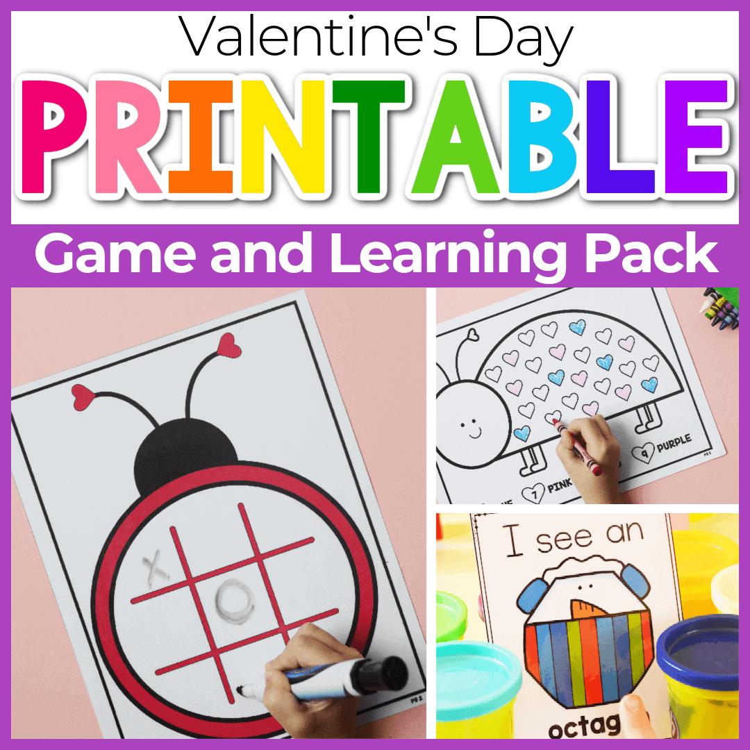 Valentine Day Math Worksheets for Preschoolers