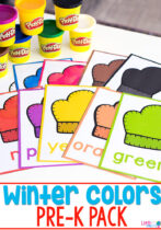 Printable Pre-K Winter Colors Pack