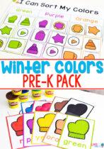 Winter Colors Pre-K Pack