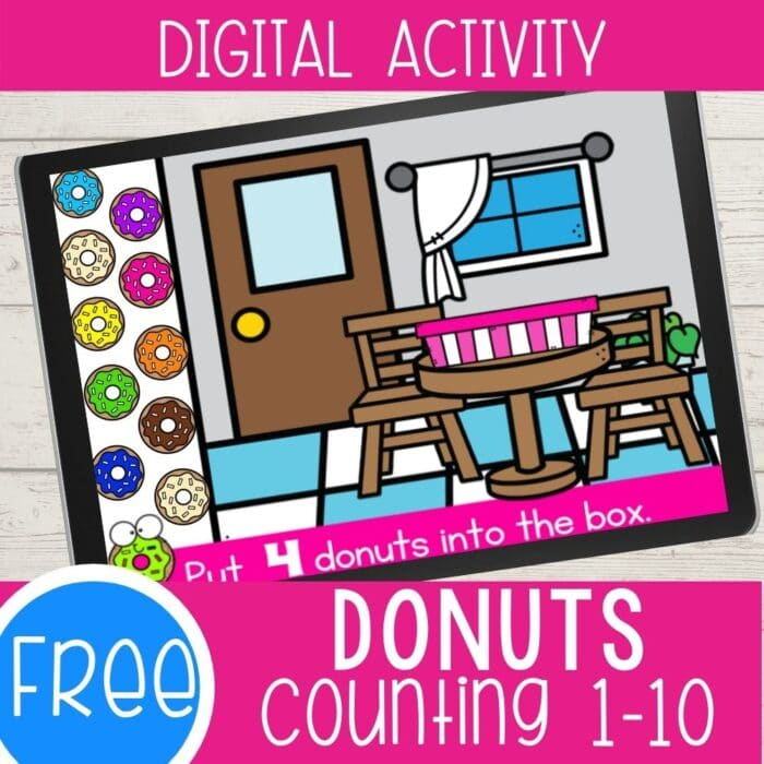 Free Donuts Counting 1-10 Digital Activity featured square image
