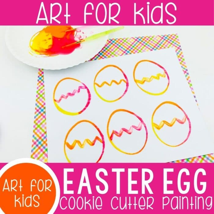 Cookie Cutter Painting Easter Art for Kids featured square image