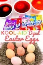 Kool Aid Dyed Easter Eggs