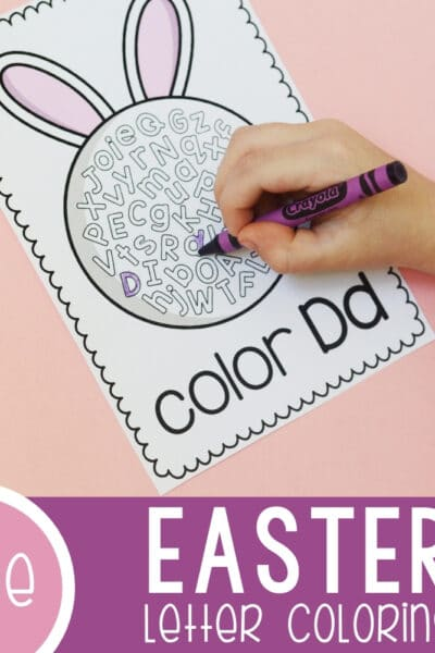 Printable Easter Color the Letter Pages