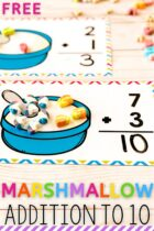 Free Marshmallow Addition to 10 Activity