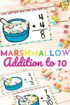 Free Marshmallow Addition to Ten Activity