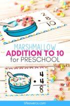 Free Marshmallow Addition Math Mats