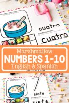 Printable Marshmallow Counting Mats Numbers 1-10