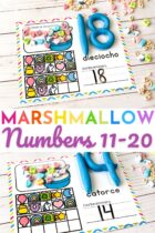 Marshmallow Counting Mats Numbers 11-20
