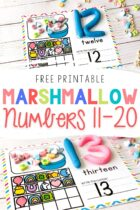 Numbers 11-20 Counting Mats