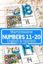 Printable Number Mats 11-20