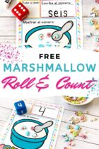 Free Marshmallow Roll and Count Activity