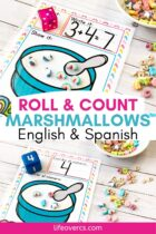Preschool Roll and Count with Marshmallows