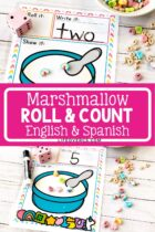 Marshmallow Roll and Count Activity
