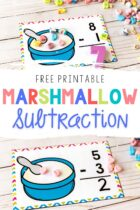Free Printable Marshmallow Subtraction